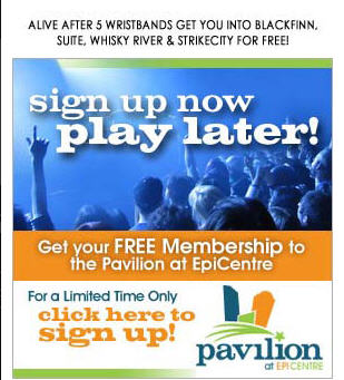 Free Membership Offer to Pavilion at Epicentre