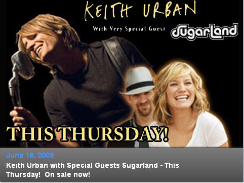 Keith Urban's 'Escape Together World Tour' June 18th