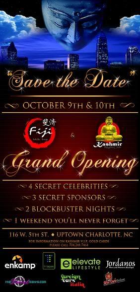 Fiji Sushi Bar & Lounge and Kashmir Night Club Grand Openings Oct 9th & 10th