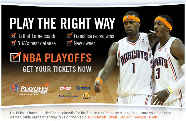 Charlotte Bobcats 2010 NBA Playoffs Schedule
