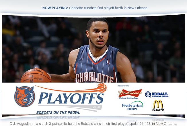Charlotte Bobcats Clinch Franchise's First Playoff Birth