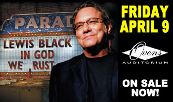 Lewis Black 'In God We Rust' April 9th