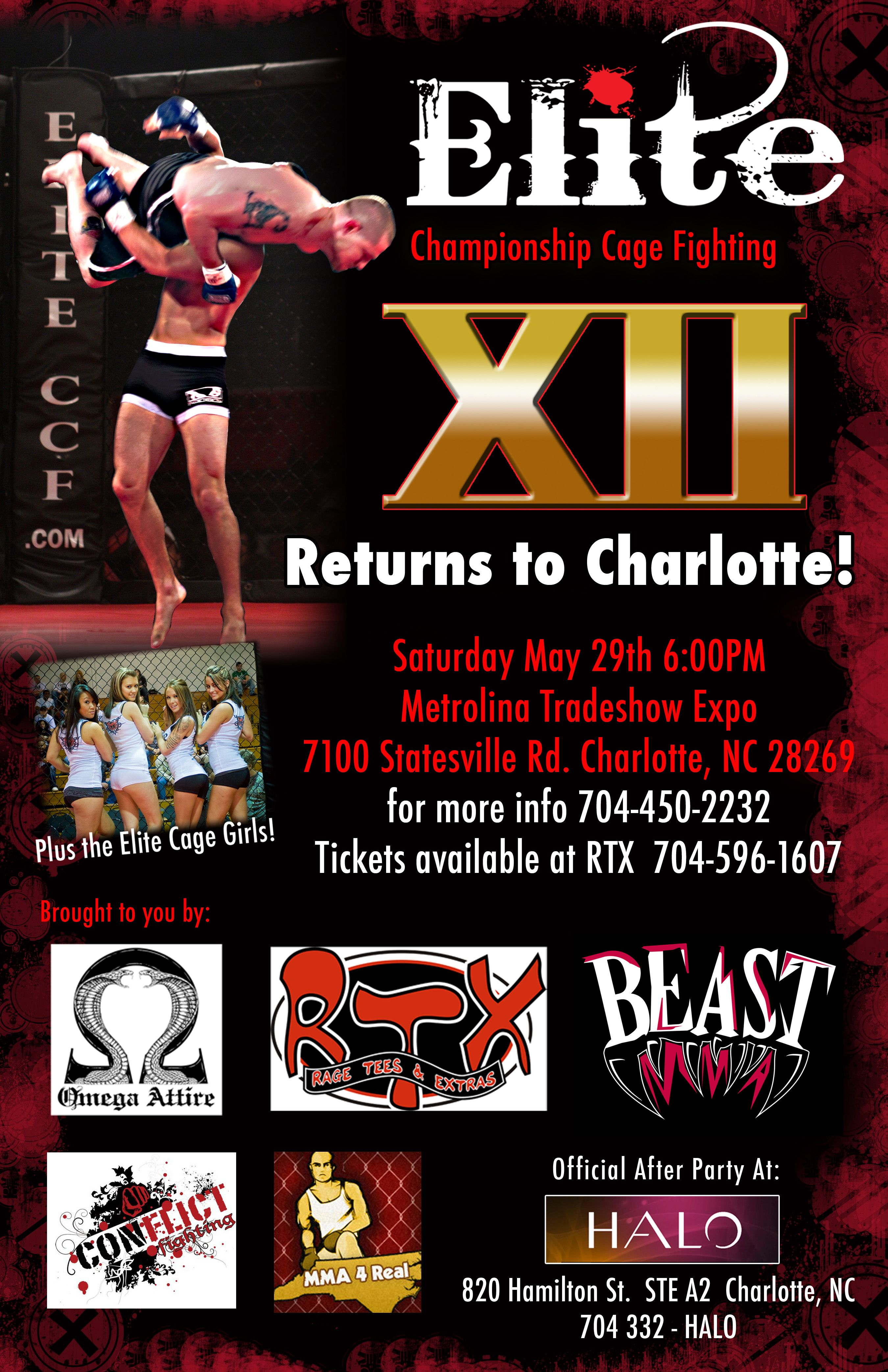 Elite Championship Cage Fighting XII May 29th