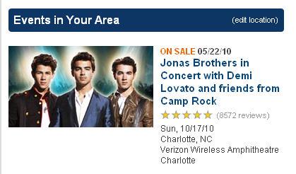 Jonas Brothers Oct. 17th