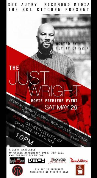 'Just Wright' Movie Party with Common May 29th