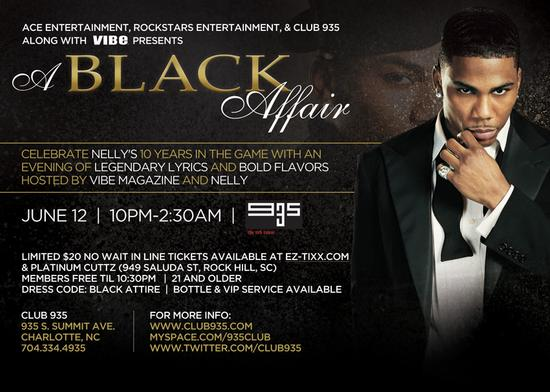 All Black Affair With Nelly & Vibe Magazine June 12th