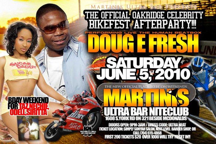 Doug E. Fresh Live @ Martini's Ultra Bar June 5th
