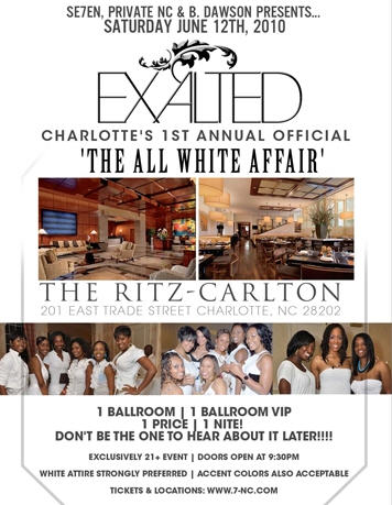 Exalted: Queen City All White Affair June 18th