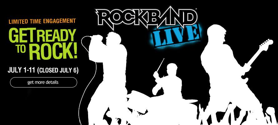 Rock Band Live: July 1 – July 11 @ Carowinds