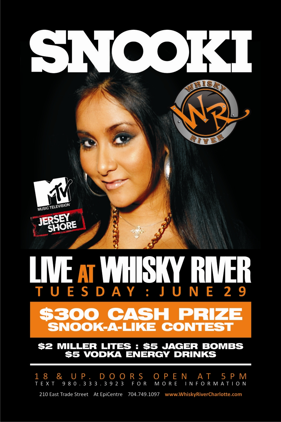 Snooki Live at Whisky River June 29th