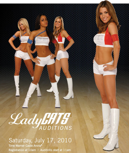 NBA Bobcats' Lady Cats Auditions July 17th