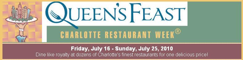 Charlotte Restaurant Week July 16th – 25th 2010