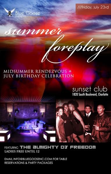 Foreplay @ Sunset Club July 23rd