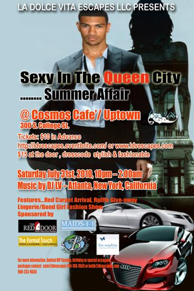 Sexy in the Queen City…Summer Affair July 31st