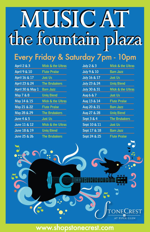 Music at the Fountain Plaza Fri & Sat Nights