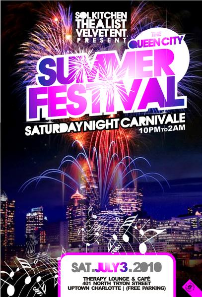 Queen City Summer Festival – Free Cookout and After-Party July 3rd