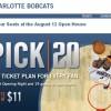 2010-11 Bobcats Pick 20 Plan