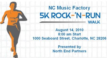 NC Music Factory 5K Rock 'N Run/Walk Aug 14th
