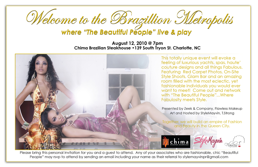 Beautiful People Event August 12th