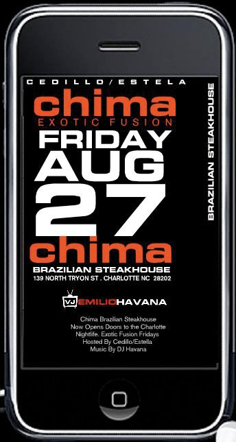 Exotic Fusion @ Chima Friday, Aug 27th