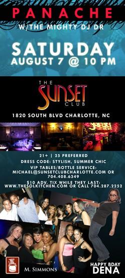 Panache @ The Sunset Club August 7th