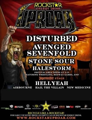 Rockstar Energy Drink UPROAR Fest w/ Disturbed & Avenged Sevenfold Sept 1st