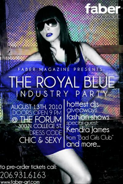 The Royal Blue Industry Party @ The Forum August 13th