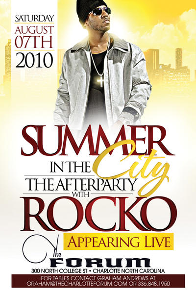 Summer In The City With Rocko Live!