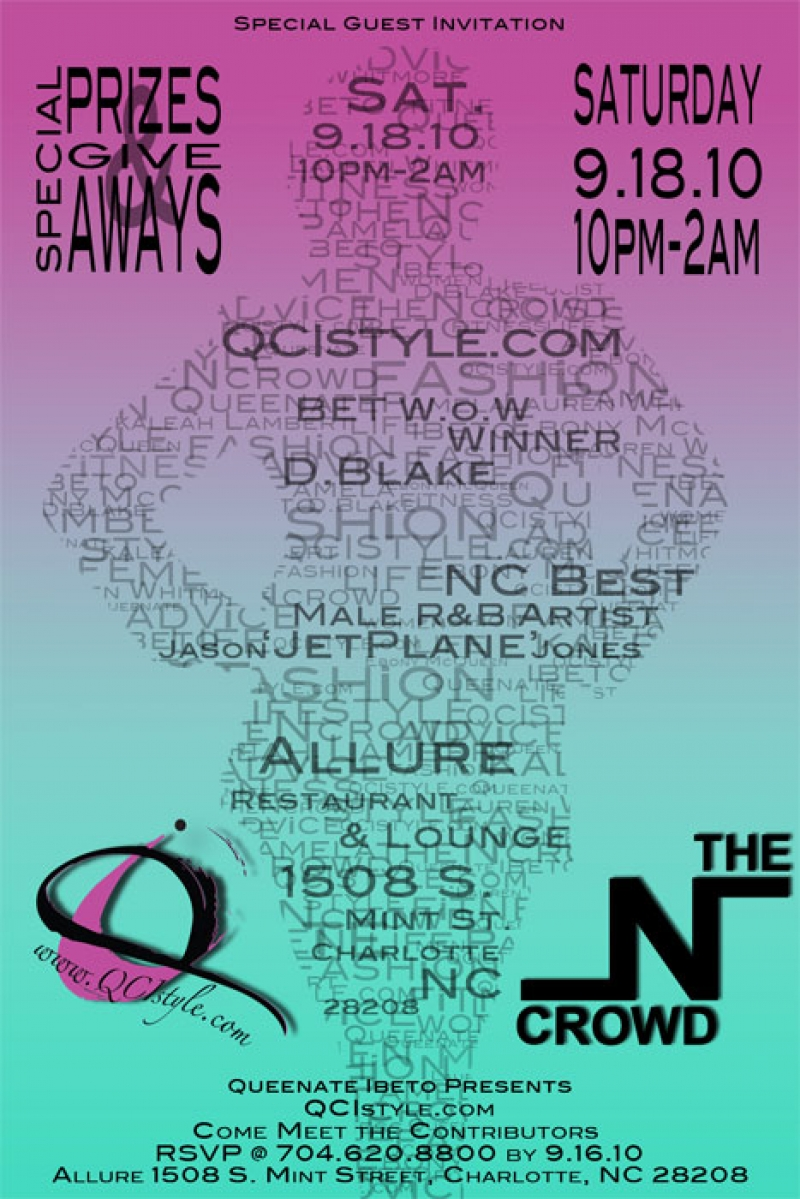 QCIStyle.com Launch Party Saturday Sept 18th
