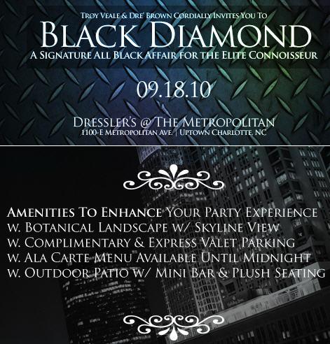Black Diamond: A Signature All Black Affair Sept 18th