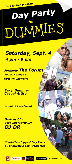 Day Party For Dummies September 4th