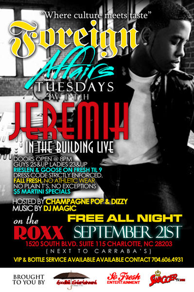 Foreign Affair Tuesdays With Jeremih