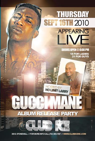 Gucci Mane Album Release Party Thursday Sept 16th