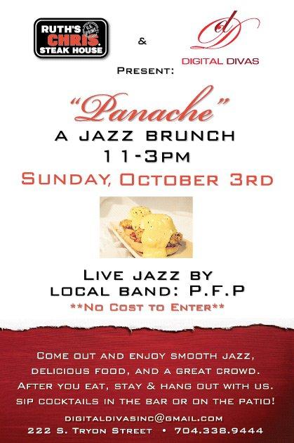 """""""Panache"""" A Jazz Brunch October 3rd"""
