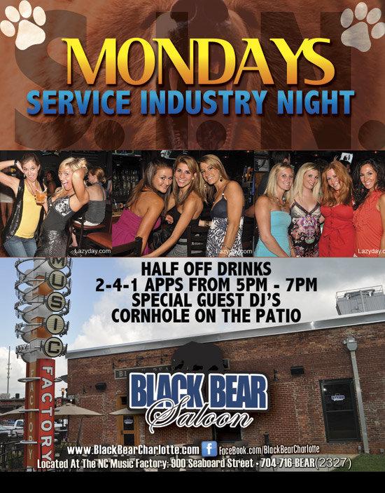 Service Industry Night – Mondays