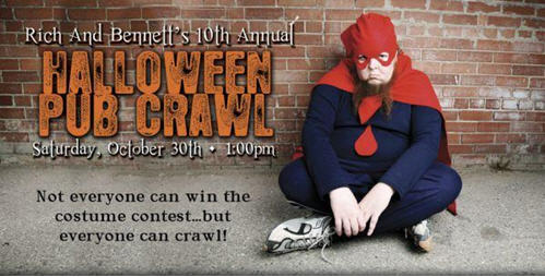 rich bennetts 10th annual halloween pub crawl