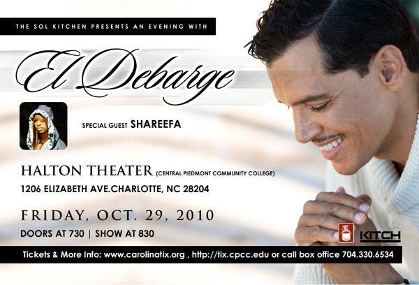 An Evening With El DeBarge Oct 29th