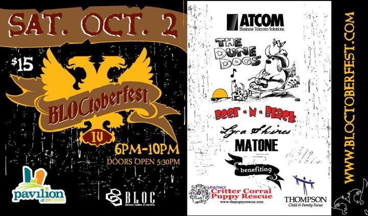 BLOCtoberfest Saturday Oct 2nd