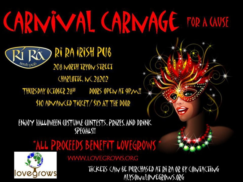 Love Grows Charity Halloween Party Oct 28th