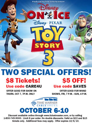 Disney On Ice Presents Toy Story 3 Oct 6-10