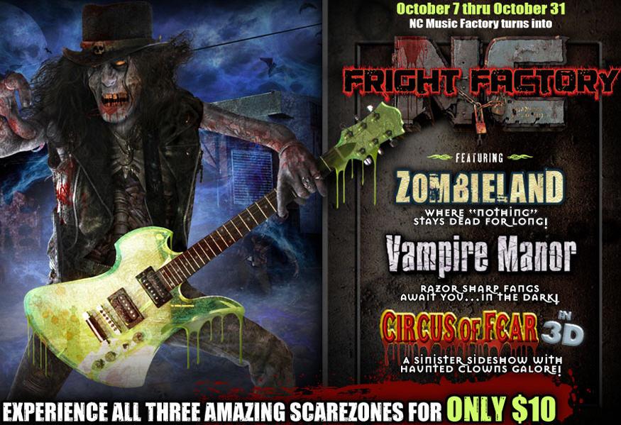 NC Fright Factory Now Thru Halloween