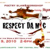 Respect Da Mic Workshop & Poetry Slam Oct 9th