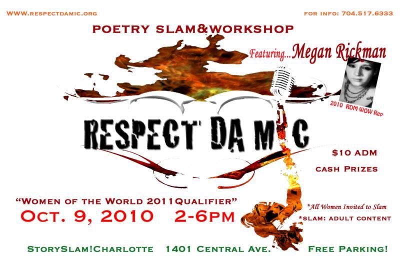 Respect Da Mic Workshop & Poetry Slam Oct 9th