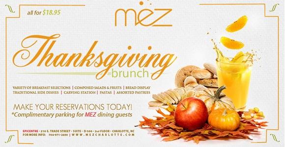 Thanksgiving Brunch at MEZ 2010
