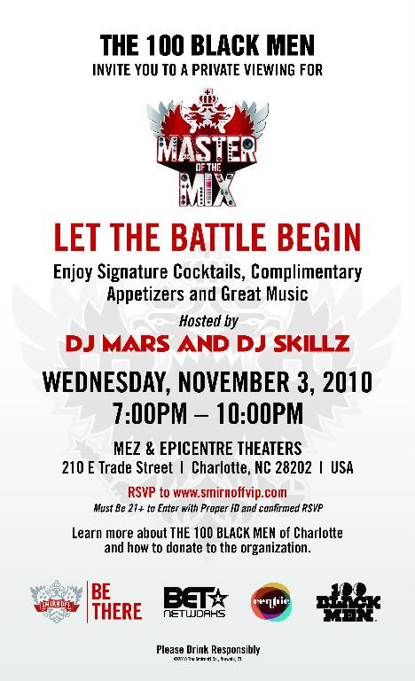 Master of the Mix November 3rd