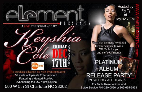 Keyshia Cole Performing Live at 5th Element Dec 17th