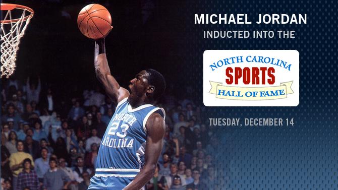 Michael Jordan NC Sports Hall of Fame Induction Dec 14th