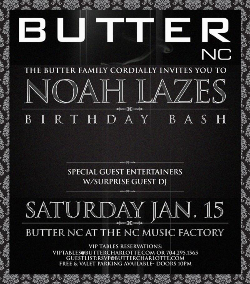 Noah Lazes Birthday Bash at Butter