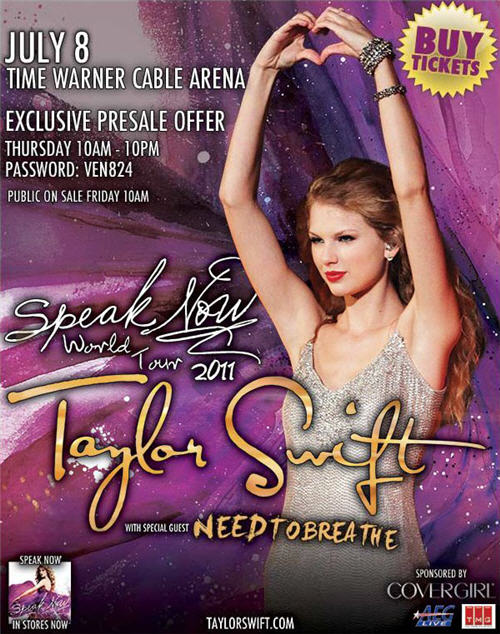 Taylor Swift Speak Now Tour