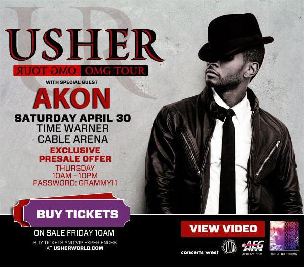 Usher OMG Tour April 30th